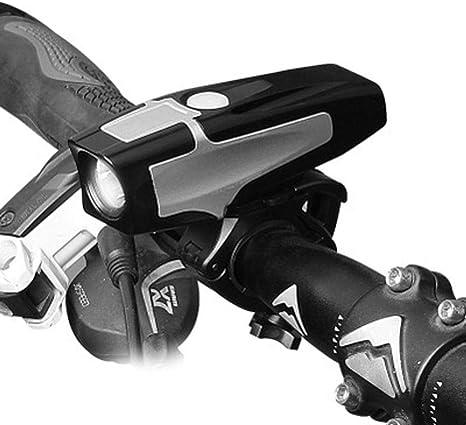 Kaxima Luces Bicicleta Carga USB de Bicicleta luz Delantera ...