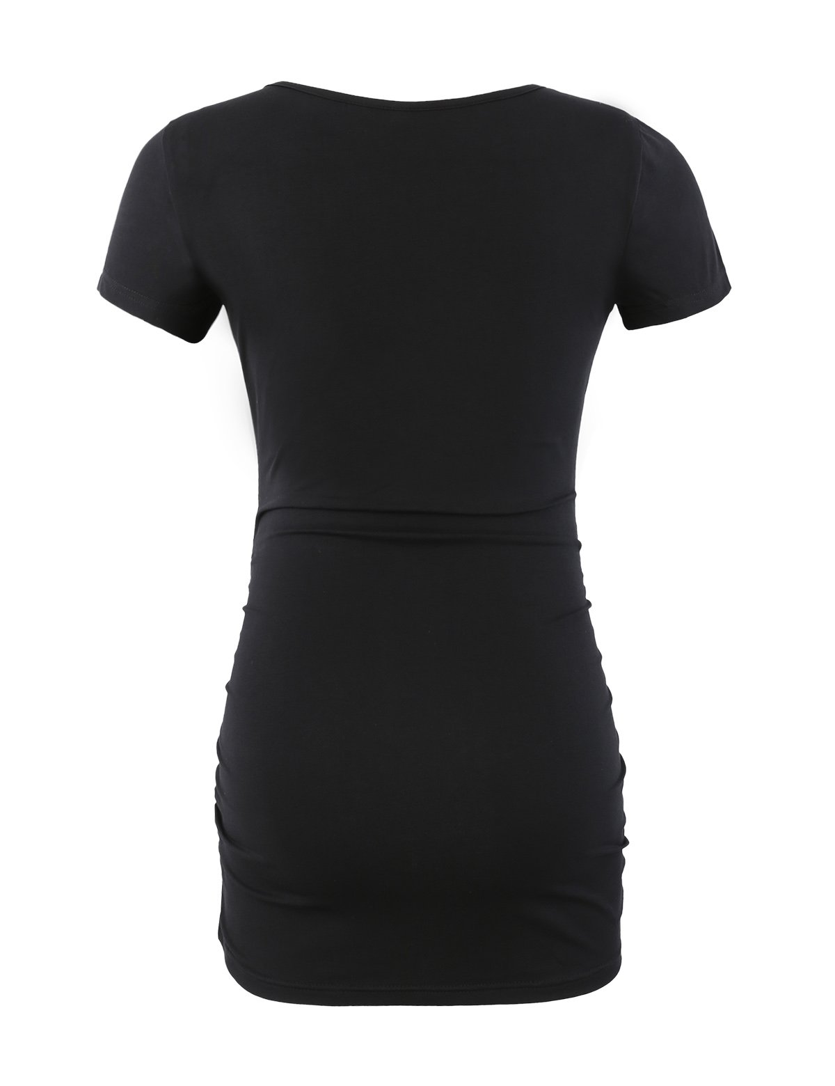 Maternity Shirt Maternity Tank Tops Maternity Top Womens Pregnancy Shirts Clothes Black L by Peauty (Image #3)
