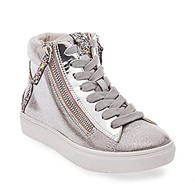 Steve Madden Kids Girls Jpeace (Little Kid/Big Kid) Silver Sandal