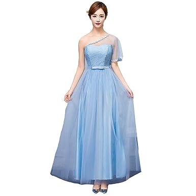 6d057587d6985 cnstone ブライズメイド ドレス ブルー ロングドレス ウェディングドレス エンパイアライン カラードレス 結婚式 二次会