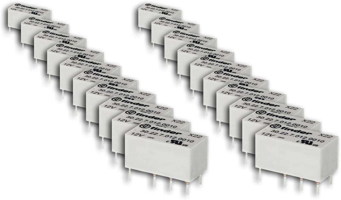 Finder serie 30 - Rele circuito impreso mini dil 24vdc 2 contacto conmutador sensible