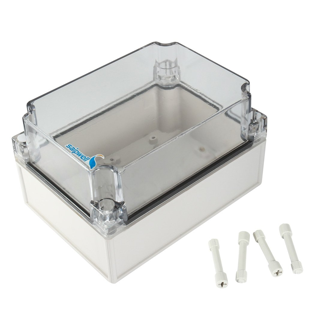 uxcell 4.9''x6.9''x3.9''(125mmx175mmx100mm) ABS Junction Box Universal Project Enclosure w PC Transparent Cover