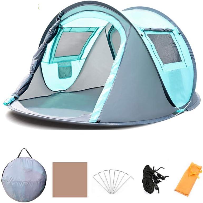 Tswinopty 2人 キャンプ サンシェルター 自動ポップアップテント ビーチテント 簡単セットアップ、アウトドアスポーツテント 2ドア キャンプ愛好家用 245x150x105cm 394-183-915