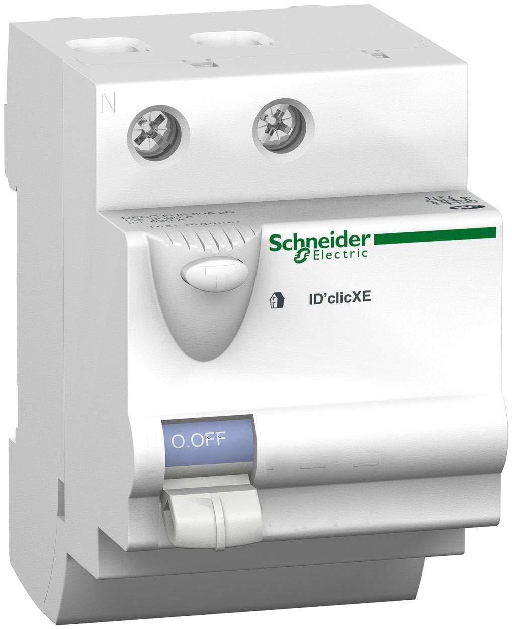 SCHNEIDER - Interrupteur diffé rentiel embrochable ID'Clic 40A 30mA type AC - Duoline - 16160 SCHNEIDER - Interrupteur différentiel
