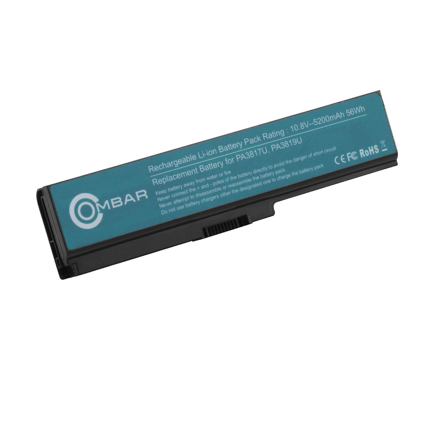 OMBAR PA3817U-1BRS Laptop Battery Replacement for Toshiba PA3817U-1BRS  PA3817U-1BAS PA3818U-1BRS PA3819U-1BRS Toshiba Satellite C655 L600 L675  L675D