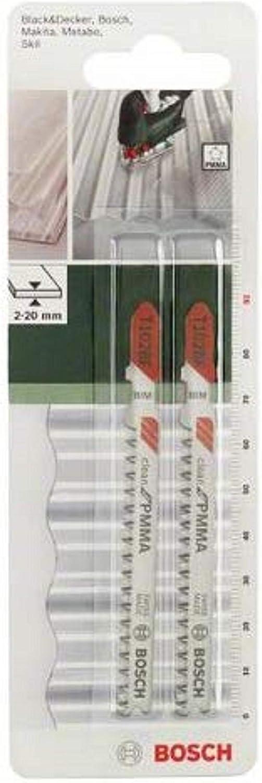 Bosch 2609256C57 Set de 2 lames de scie sauteuse T102H