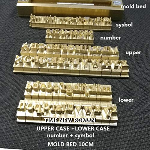 - Tool Parts WDN T-slot Brass Letters Die Cut Deboss Mold Hot Foil Stamp Copper Alphabet Press Set Customized Font DIY Character Mold - (Color: TIMES NEW ROMAN)