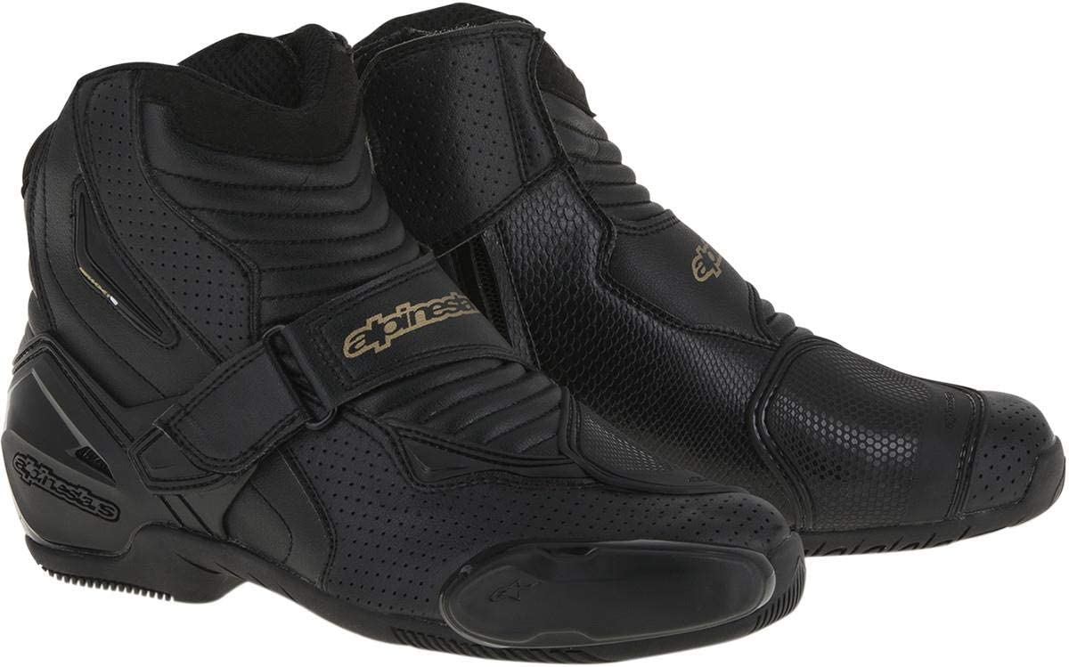 Black//Gold Alpinestars Womens Stella SMX-1 R Vented Boots 44