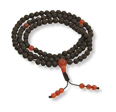 Amazon.com: Small Lava Rock 108 Bead Healing Yoga Mala ...