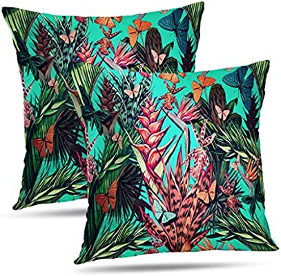 Amazon.com: LALILO Set of 2 Throw Pillow Coverstree Water ...