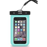 "Kosse Bolsa Impermeable Móvil Universal, IPX8 Bolsa Estanca para iPhone 7/6S, 7/6S Plus, SE, Galaxy S7/S6/J7/J5/J3, Huawei P20/P9/P8 Lite, Xiaomi A1/Redmi Note 5/5 Plus hasta 6.0"" Diagonal -Verde"
