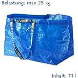 """Ikea - Sac De Courses """"Frakta"""" Sac Bleu - 71 Litres De Capacité / 25 Kg"""