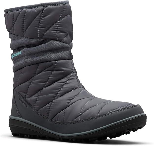 Columbia Women's Heavenly Slip II Omni-Heat Ankle Boot, Graphite, Canyon Blue, 5.5 Regular US