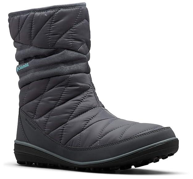 Columbia Women's Heavenly Slip II Omni-Heat Ankle Boot, Graphite, Canyon Blue, 5 Regular US