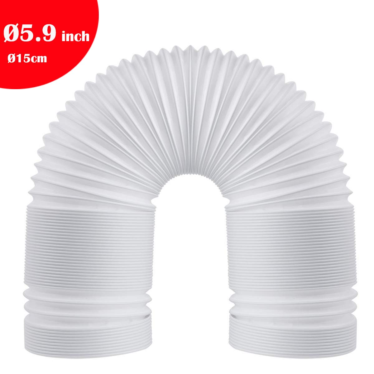 Welsoon 5.9 inch Diameter Extra Long Portable Air Conditioner Exhaust Hose 79 inch Length Counterclockwise Vent Hose (5.9inch Diameter/15CM)
