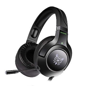 Sencillo Vida Auriculares Gaming Cascos Gaming con Microfono para PS4 o PC Sonido Estéreo Cancelación de