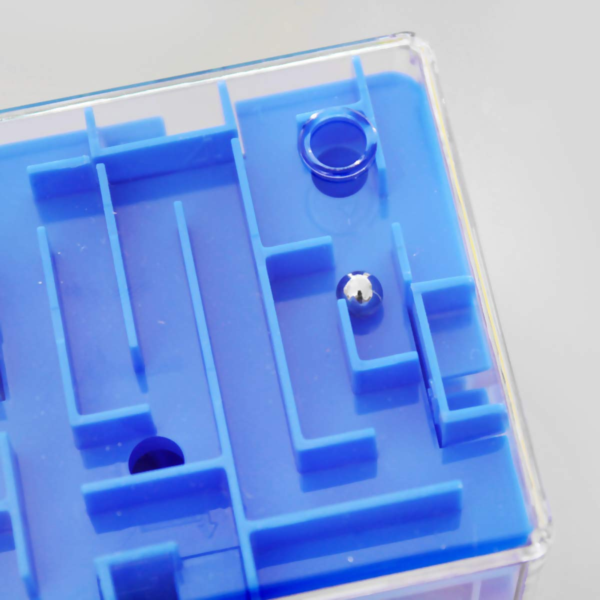Cubo m/ágico 3D Juguete para Adultos y ni/ños Rosa Rosa 8 x 8 x 8cm Daxoon Cubo de Laberinto Rompecabezas secuencial Rompecabezas de Cerebro