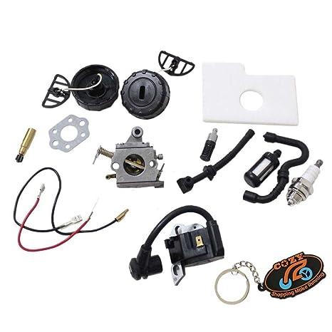Cozy Carburador Pack de aire Aceite Filtro de combustible Bujías Junta Combustible aceite tapa Junta de