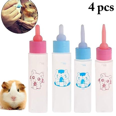 Legendog 4 Piezas Mascota Biberón Hamster De Múltiples Fines Animal Pequeño Biberón