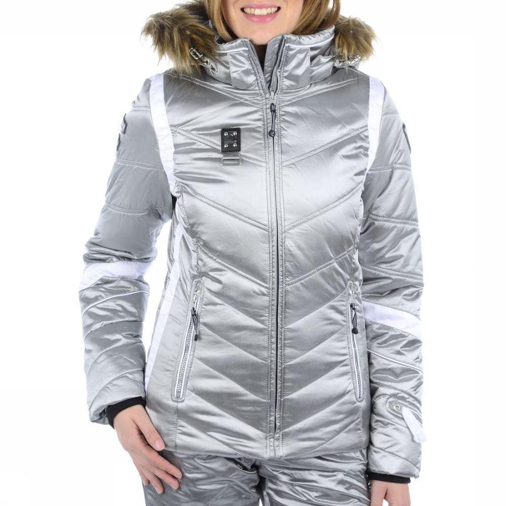 Icepeak Ski-/Snowboardjacke Outdoor Jacke Olga Silber Gr. 36