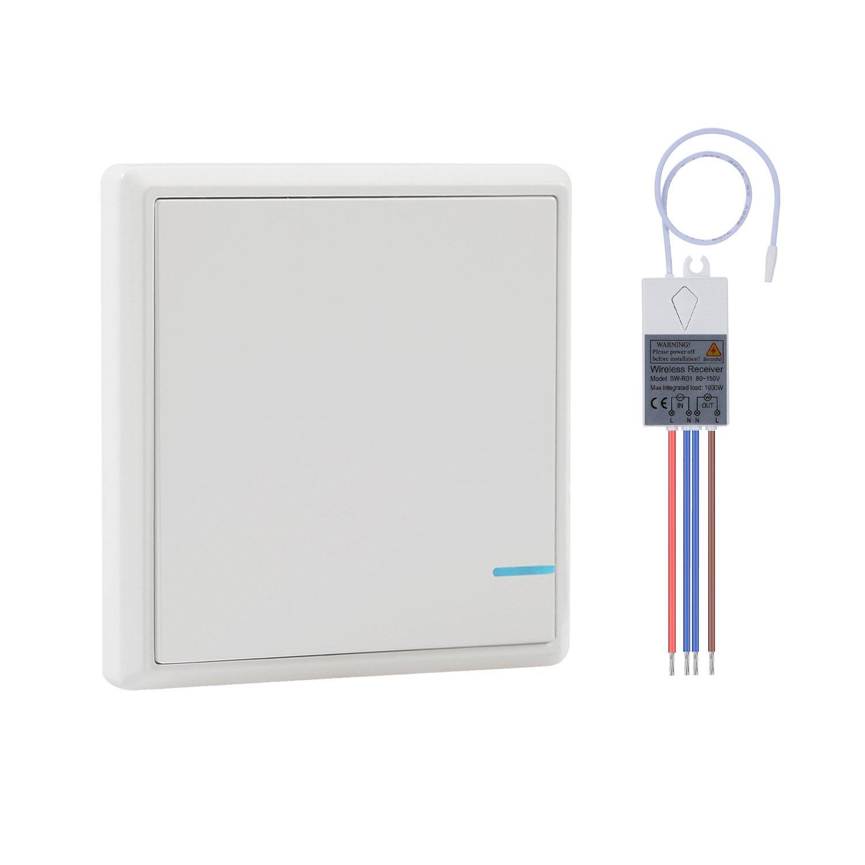 Fillixar Remote Light Switch, Wireless Light Switch Kit, Quick ...