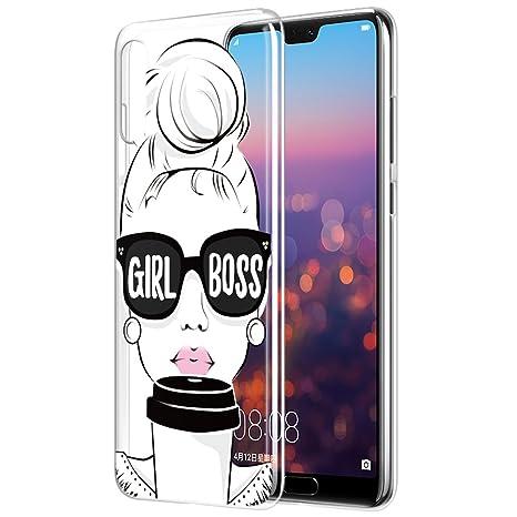 pretty cool uk availability wholesale outlet Eouine Coque Huawei P20 Pro, Etui en Silicone 3D Transparente avec Motif  Fun Fantaisie Peinture Design [Anti Choc] Housse de Protection Case Coque  ...