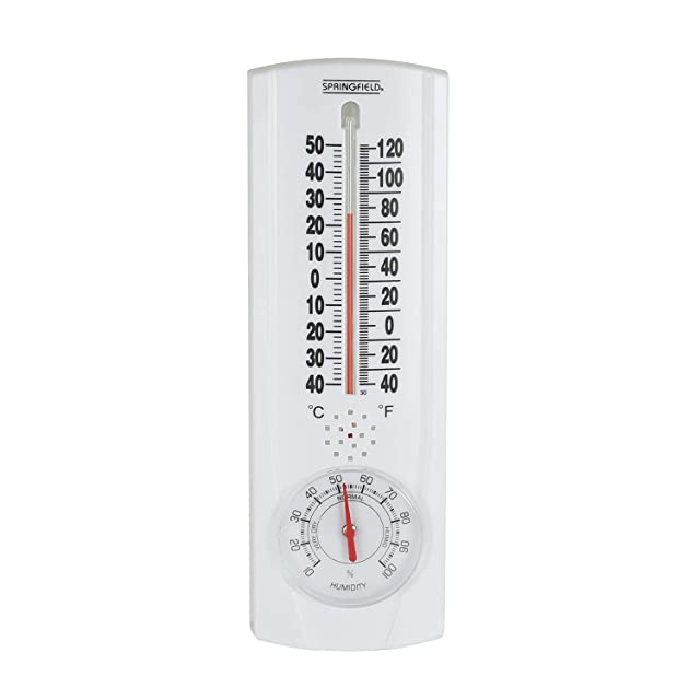Springfield Vertical Thermometer and Hygrometer