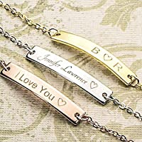 SAME DAY SHIPPING GIFT TIL 2PM CDT A Absolute rate your name bar Bracelet - Dainty Hand stamped Engraving Personalized Plate Bracelet bridesmaid Wedding Graduation Birthday Christmas Gift