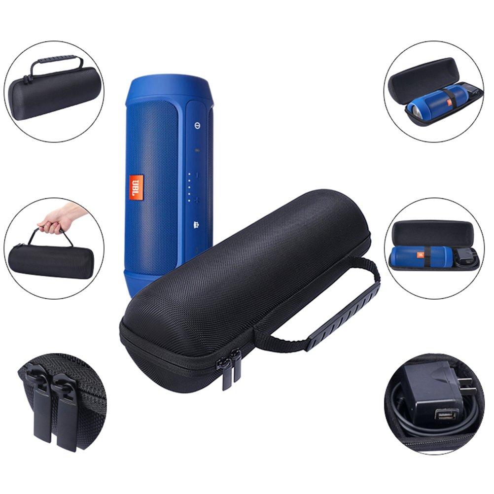 Frcolor Custodia rigida portatile EVA da viaggio Custodia protettiva custodia con uno strato per JBL Charge 2/2+/2 Plus Altoparlante Bluetooth senza fili (nero)