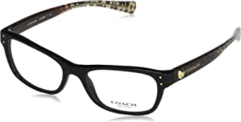 Coach Women's HC6082 Eyeglasses Black/Wild Beast 53mm, 53/17/135