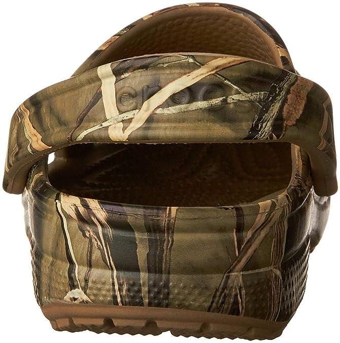 8695d439cb469 Amazon.com | Crocs Men's and Women's Classic Realtree Clog | Comfort Slip  On Camo Casual Shoe | Lightweight | Mules & Clogs