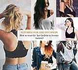 SHAPERX Women's Lace Bralette Unpadded Breathable