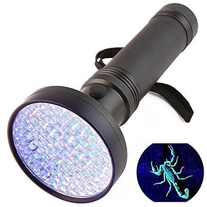 sancc UV linterna negro luz, 100 LED linterna ultravioleta detector para las manchas, detección