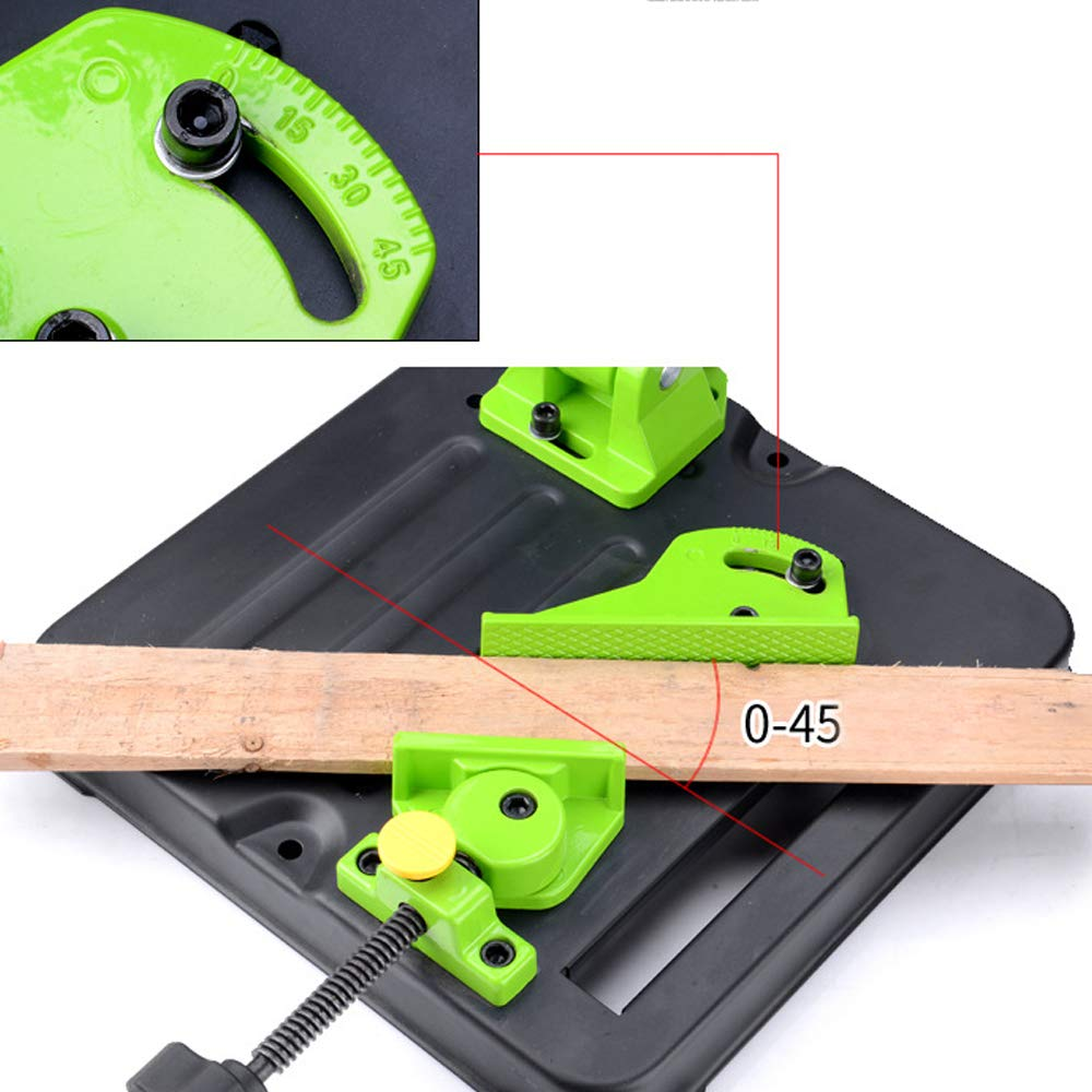 Accesorios multifuncionales para herramientas el/éctricas para trabajar el metal Bricolaje Soporte de base de hierro Soporte de amoladora angular para soporte de amoladora angular para m/áquina de
