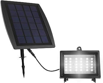 Deckey Foco LED para Exteriores, 30 LED, Luz Solar para Jardín, Juego Impermeable IP 55 1er [Clase de Eficiencia Energética A]: Amazon.es: Iluminación