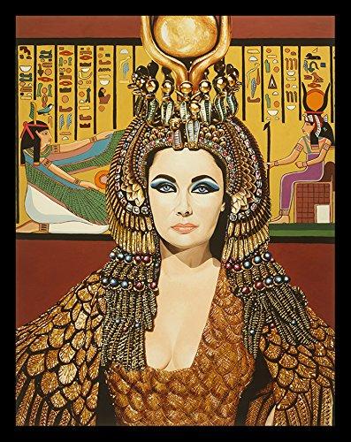 FRAMED Elizabeth Taylor as Cleopatra by Karl Black 18x12 Giclee Edition Art Print Poster Wall Decor