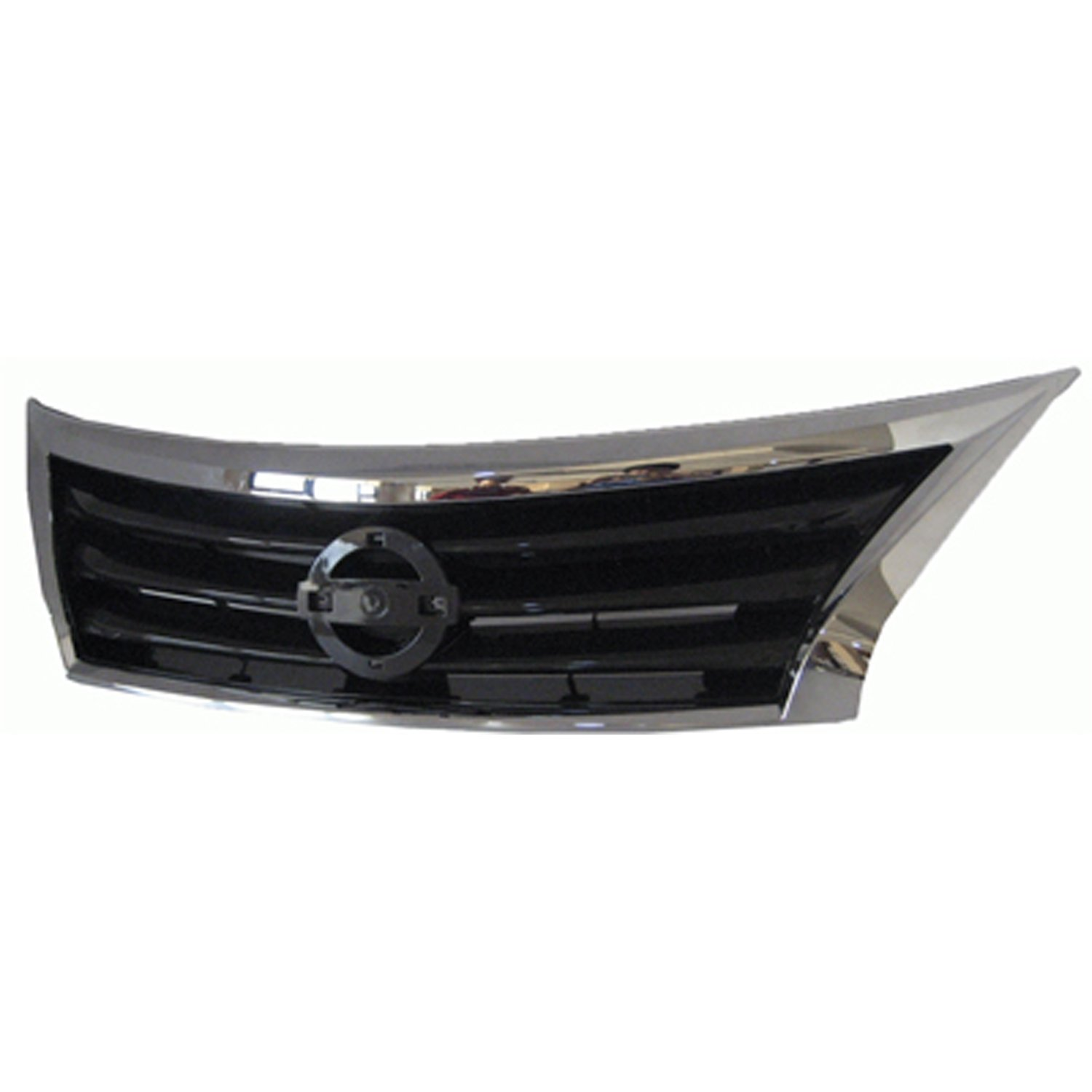 CPP Chrome Shell w//Black Insert Grille Assembly for 2013-2015 Nissan Altima Sedan
