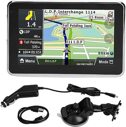 Navegador GPS para coche universal 5 pulgadas Pantalla táctil Navegador GPS para coche Navegación GPS 256MB 8GB MP3 FM Europa Mapa 508: Amazon.es: Coche y moto