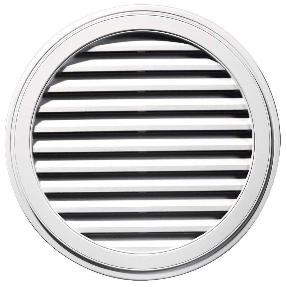 Builders Edge 120033636117 36'' Round Vent 117, Bright White