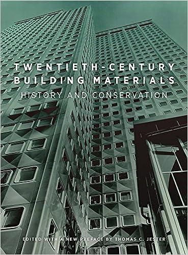 twentieth century building materials history and conservation