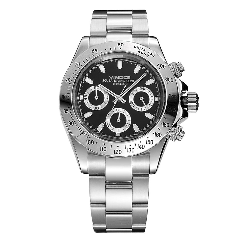 Sport Herrenuhr-Stilvolle Multifunktions-Uhr-Wasserdichte Quarz-Uhren-B