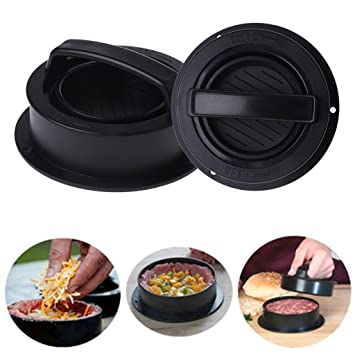 Guoyy - Prensa de silicona para hamburguesas, kit de prensa de hamburguesas, moldes para carne: Amazon.es: Hogar