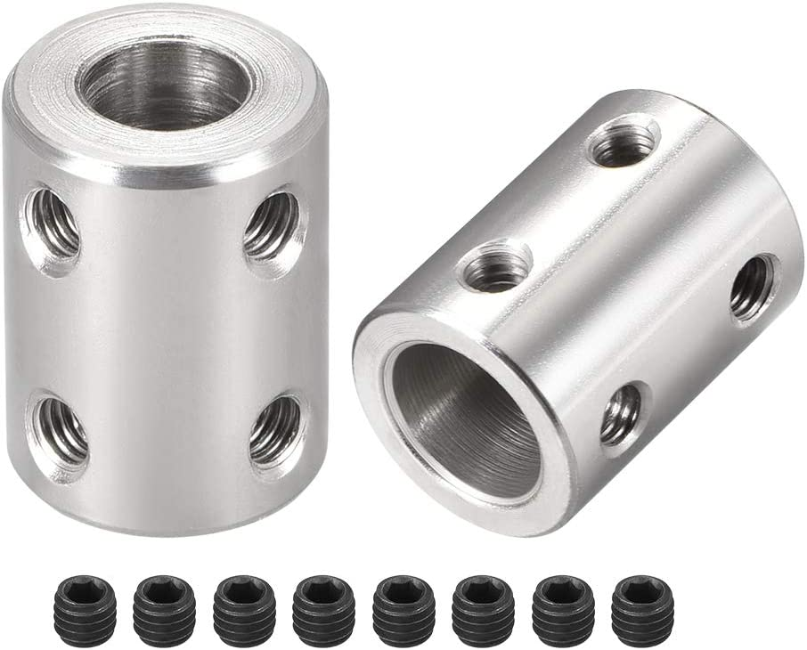 8mm to 10mm Aluminum Alloy Shaft Coupling Flexible Coupler Motor Connector Gasket L30xD25 Silver