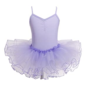 aa977f44f5e02 TiaoBug Tutu Ballet Fille Enfant Tutu Robe filles V-Cou Costume danse  Justaucorps Fille Jupe