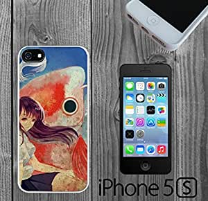 Anime Girl with Huge Fish Custom made Case/Cover/skin FOR iPhone 5/5s