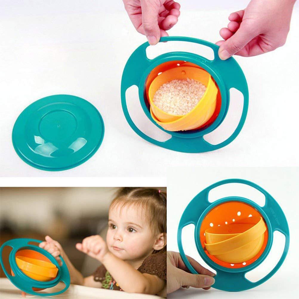 taz/ón de giroscopio con Tapa Cuenco Giratorio de Equilibrio Qiekenao Baby Gyro Cuenco para ni/ños