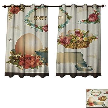 amazon com anzhouqux easter blackout thermal curtain panel romantic rh amazon com