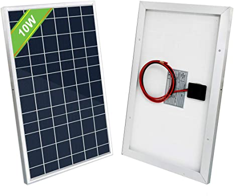 Eco Worthy 10w Solar Panel 10 Watt 12 Volt For Charging 5 10ah Battery Lighting Gate Opener Amazon Ca Patio Lawn Garden