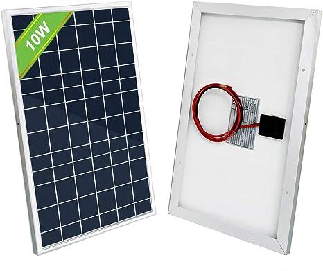 Eco Worthy 10w Solar Panel 10 Watt 12 Volt For Charging 5 10ah Battery Lighting Gate Opener Amazon Ca Patio Lawn Garden