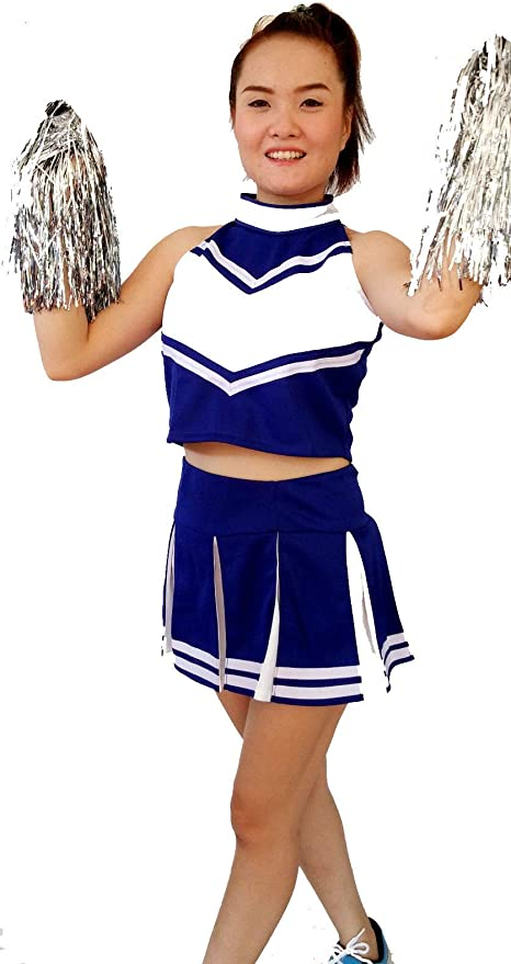 ADULT CHEERLEADER COSTUME CHEER LEADER FANCY DRESS HIGH SCHOOL UNIFORM COSTUMES